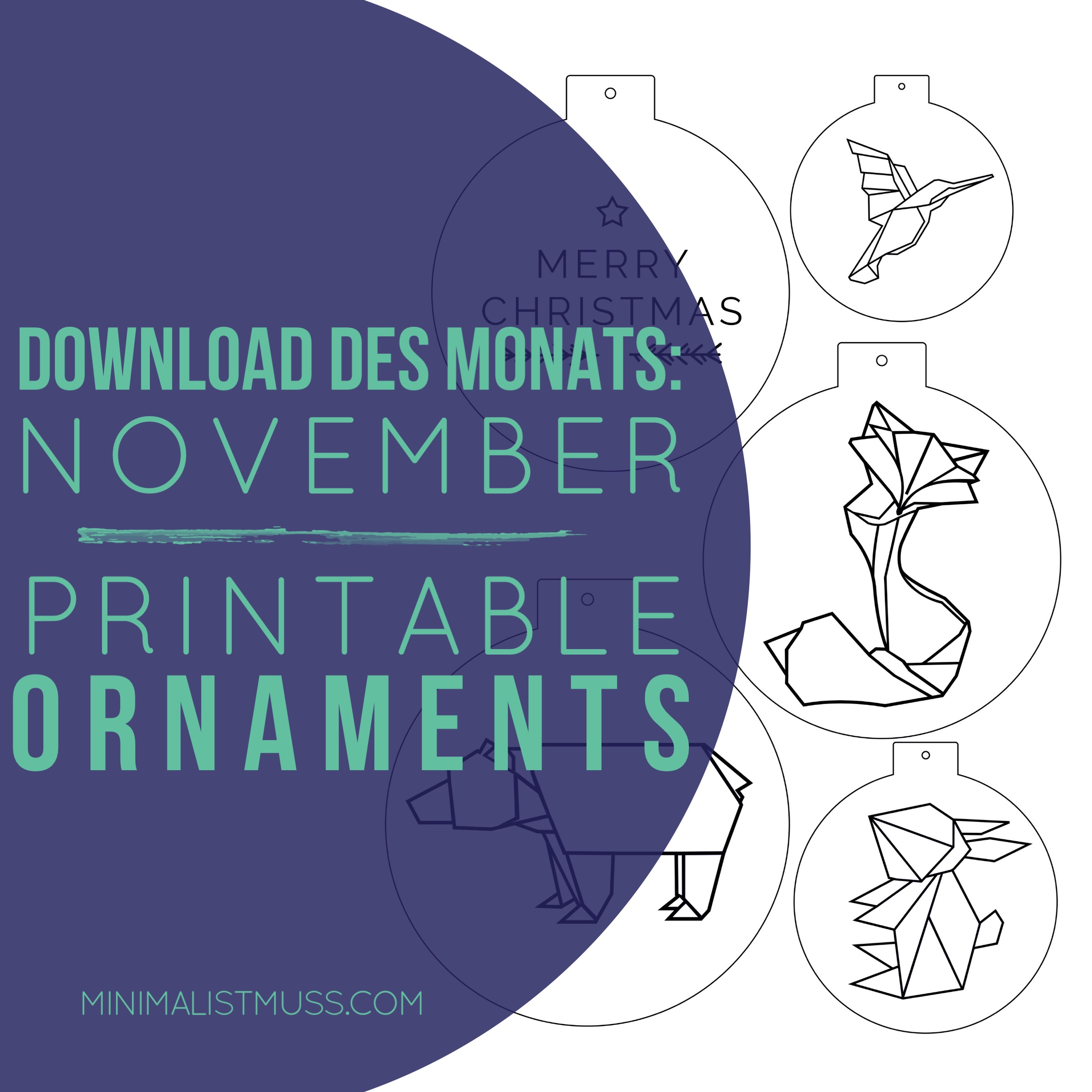 Download des Monats November bei minimalistmuss.com